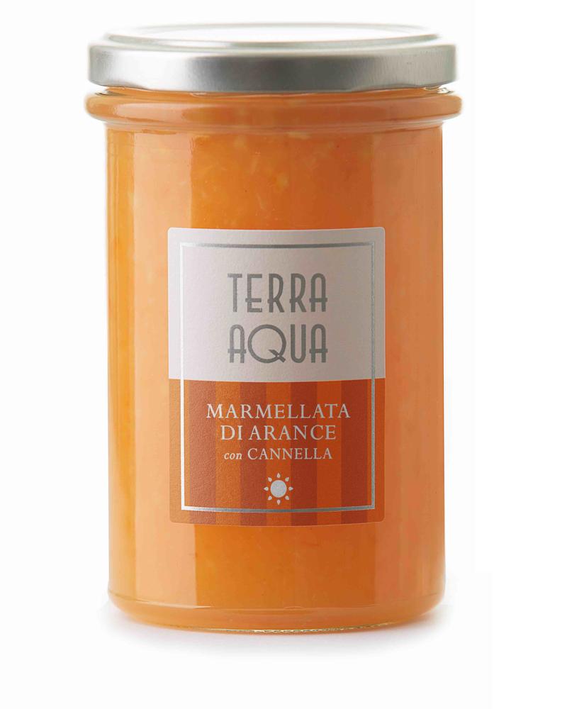 Terra Aqua Marmellata di Arancia con cannella arance tarocco coltivate e lavorate in sicilia