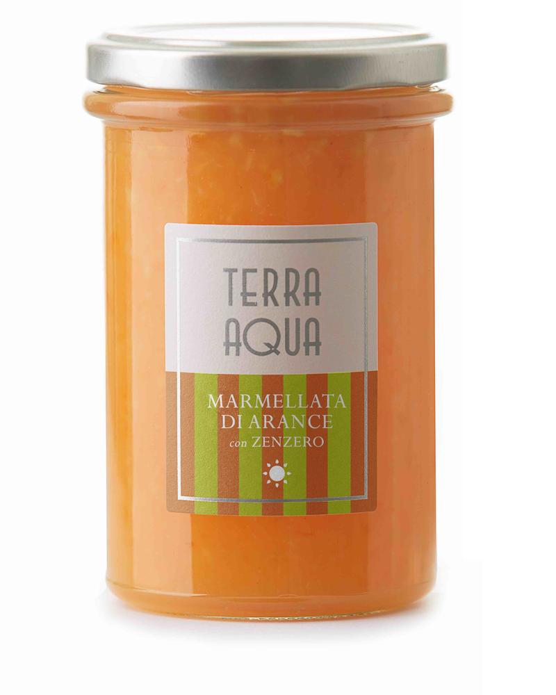 marmellate limoni arance Terra Aqua Marmellata di arance tarocco coltivate e lavorate in Sicilia con zenzero