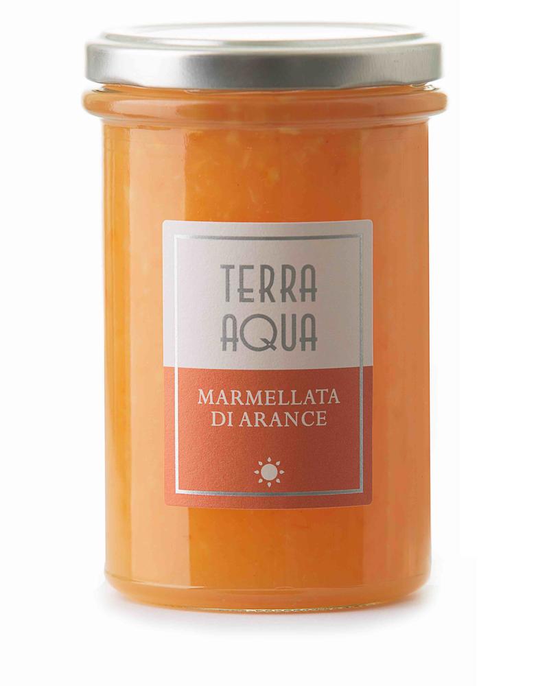 Terra Aqua marmellata di arancia arance tarocco coltivate e lavorate in sicilia