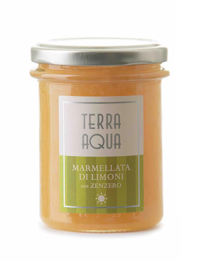 Terra Aqua marmellata di limoni con zenzero limoni famulari coltivati e lavorati in sicilia con zenzero