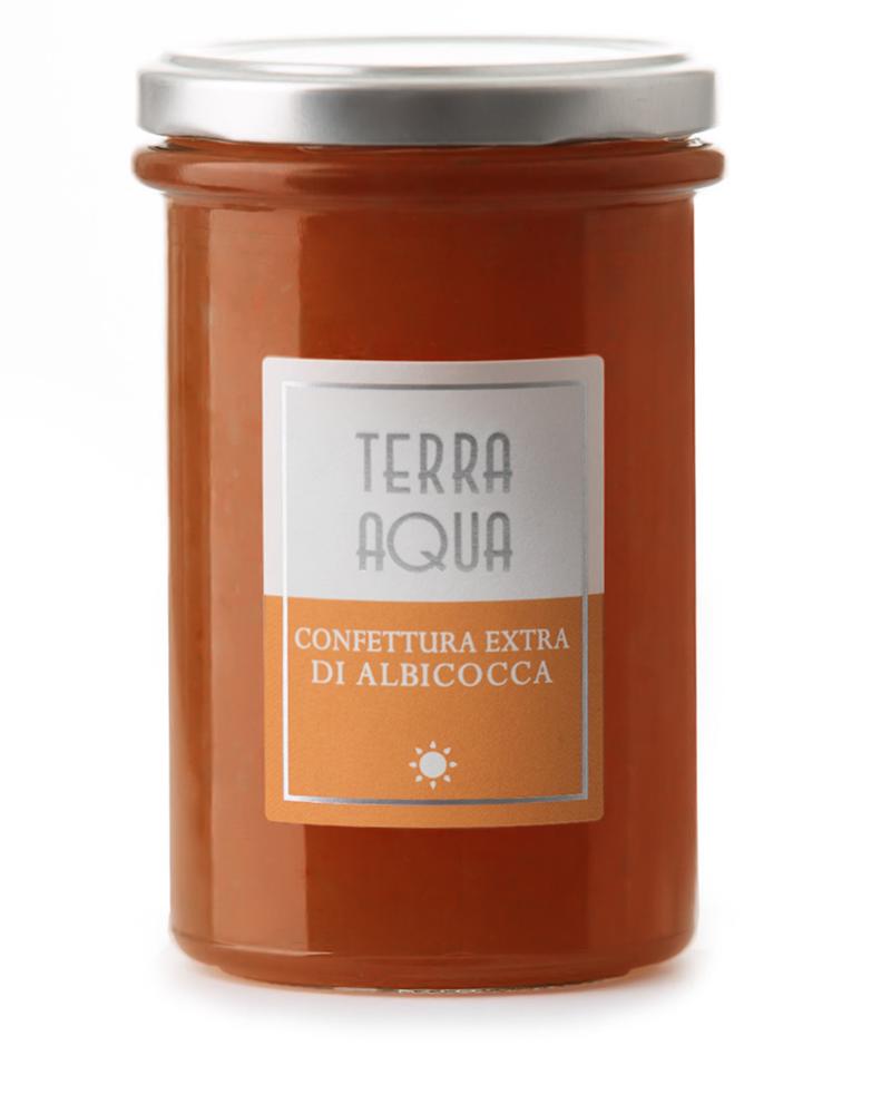 Terra Aqua Confetture Extra di Albicocche Pinkcot coltivate e lavorate mature in Sicilia – confetture albicocche pere butirro