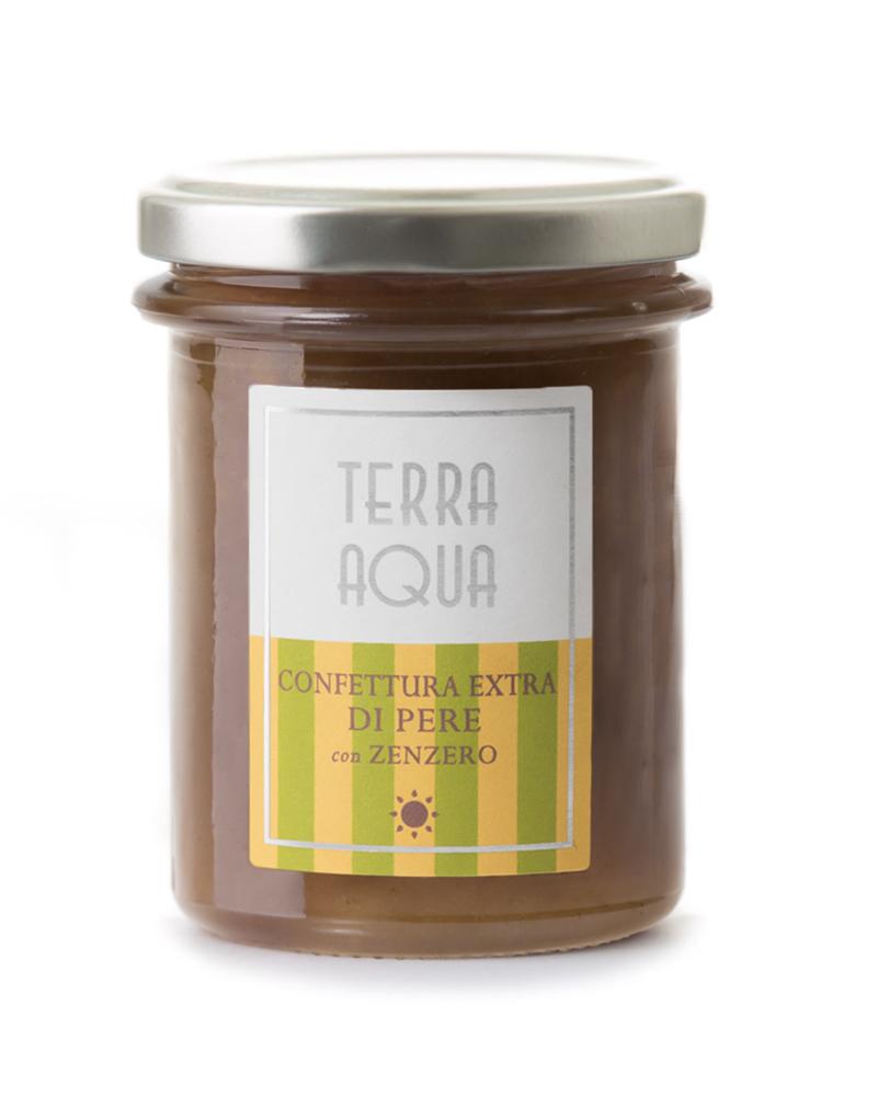 Terra Aqua Confetture Extra di Pere Butirro con zenzero coltivate e lavorate mature in sicilia - confetture albicocche pere butirro