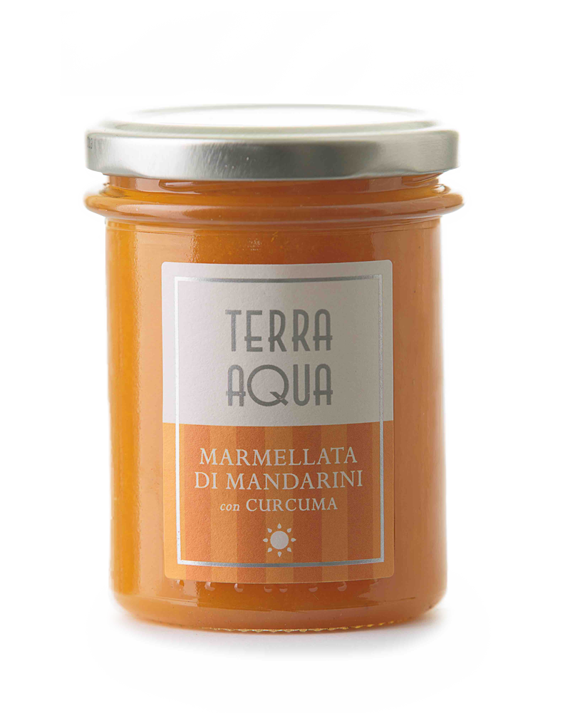 Terra Aqua marmellata di mandarini avana con curcuma mandarini avana coltivati e lavorati in sicilia con curcuma