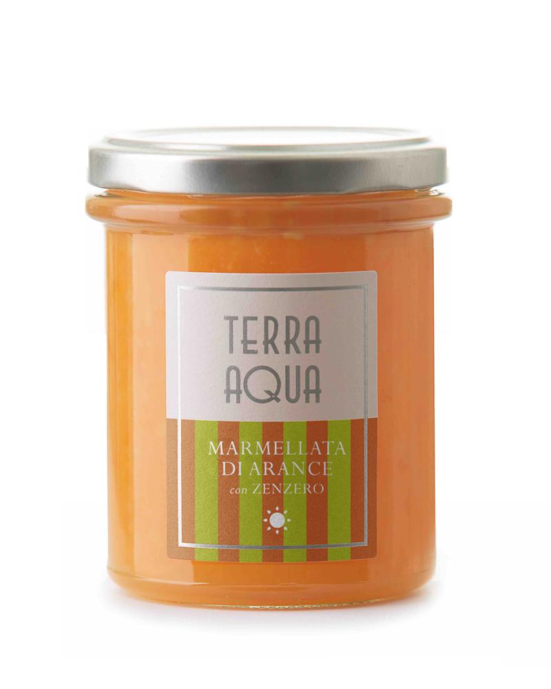Terra Aqua Marmellata di arance tarocco coltivate e lavorate in Sicilia con zenzero